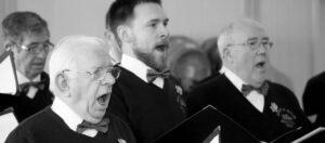 male voice choir singing